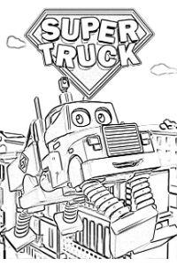 Super Truck disegni da colorare e stampare PDF Carl Trasform camion