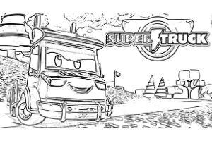 Super Truck disegni da colorare e stampare PDF Carl Trasform dumper