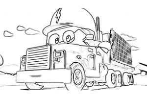 Super Truck disegni da colorare e stampare PDF Carl Trasform elettricità