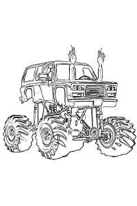 Monster Truck disegni dei veicoli da colorare e stampare