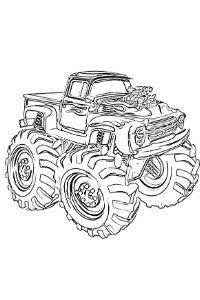 monster truck da colorare PDF stampa