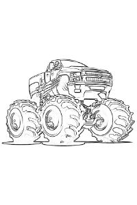 monster truck da colorare PDF stampare A4