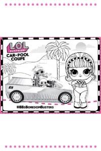 lol surprise omg car pool coupe da colorare