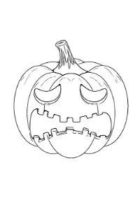 disegni halloween pdf zucca spaventata