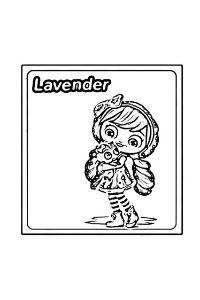 Little Charmers disegni da colorare Lavender