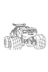 blaze e le megamacchine da colorare disegno watts