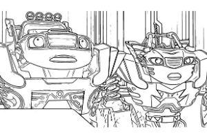 blaze e le megamacchine da colorare robot