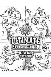 paw patrol ultimate rescue disegni da colorare e stampare