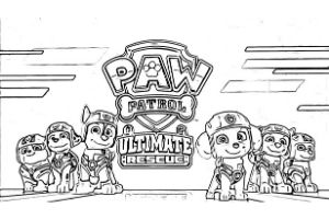 paw patrol ultimate rescue disegni da colorare skye