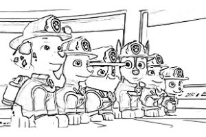 paw patrol ultimate rescue disegni da colorare