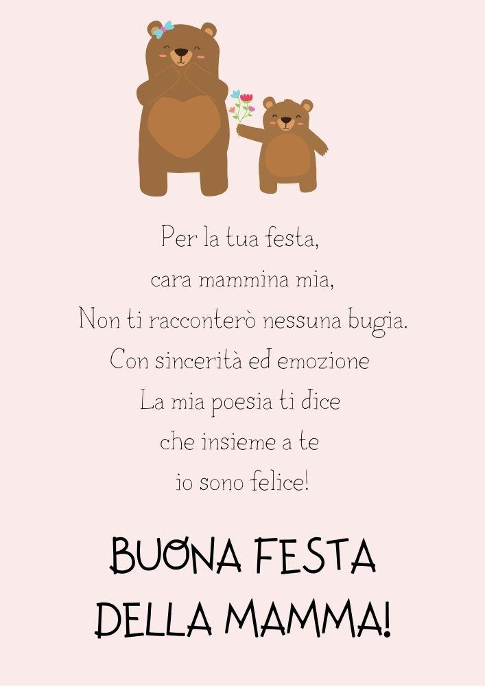 poesia per la festa della mamma scuola primaria da stampare