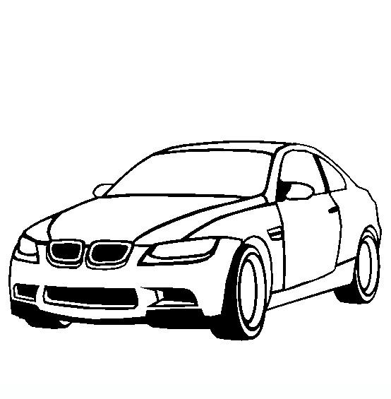 bmw m3 disegni da colorare di mezzi di trasporto