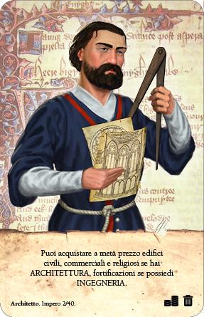 Medioevo Universalis carta impero architetto
