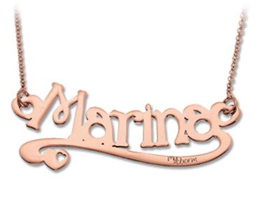 Collana Con Nome Piccolo Personalizzabile E Fregio My Charm In Oro Giallo Rosa O Bianco 18kt