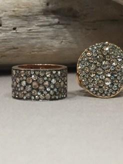 anelli collezione Samarcanda Gioielli diamanti brown e bianchi
