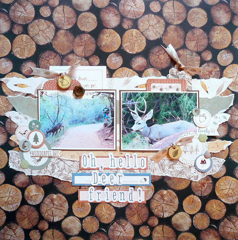 Giorgia Rossini for Docrafts OH HELLO DEER FRIEND layout