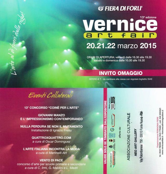 Neoartgallery Biglietto Omaggio Vernice 2015