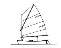 TARCHIA Con Tarchia si indica la vela o la barca con un solo albero con randa a Tarchia. è a forma di trapezio, con un picco che parte quasi dalla mura e la tiene spiegata.