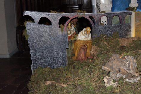 Il presepe nel Duomo di Barga