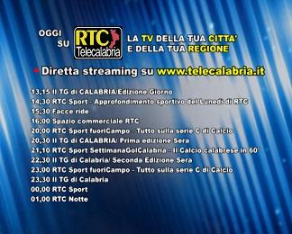 Oggi su RTC Telecalabria Programmazione del 21 febbraio 2018
