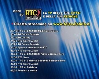 Oggi su RTC Telecalabria – programmazione del 19 marzo 2018