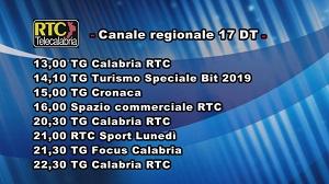 Oggi su RTC Telecalabria – Programmazione del 18 febbraio 2019