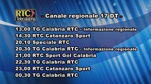 Oggi su RTC Telecalabria – Programmazione del 20 marzo 2019