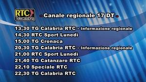 Oggi su RTC Telecalabria – Programmazione del 25 marzo 2019