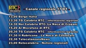 Oggi su RTC Telecalabria – Programmazione del 21 aprile 2019