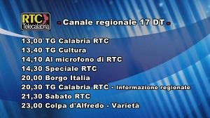 Oggi su RTC Telecalabria – Programmazione del 18 maggio 2019