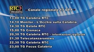 Oggi su RTC Telecalabria – Programmazione del 24 giugno 2019