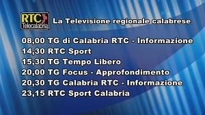 Oggi su RTC Telecalabria – la programmazione di lunedì 11 novembre 2019