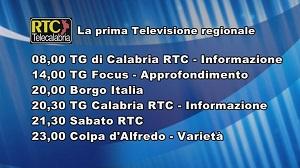 Oggi su RTC Telecalabria – Orogrammazione di sabato 16 novembre 2019