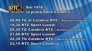 Oggi su RTC Telecalabria – Programmazione lunedì 9 dicembre 2019