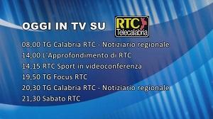 Oggi su RTC – Programmazione di sabato 4 aprile 2020