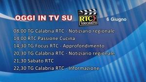 IN TV SU RTC – Sabato 6 Giugno
