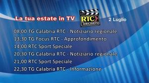 IN TV SU RTC – Giovedì 2 Luglio