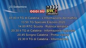 IN TV SU RTC – Mercoledì 23 Settembre