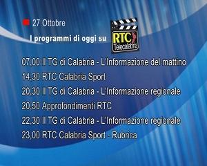 IN TV SU RTC – Martedì 27 Ottobre