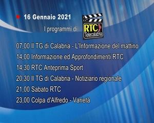 IN TV SU RTC – Sabato 16 Gennaio