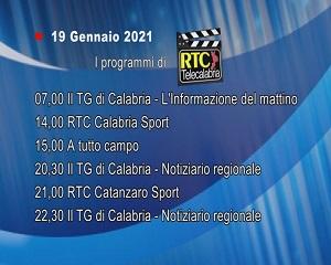 IN TV SU RTC – Martedì 19 Gennaio