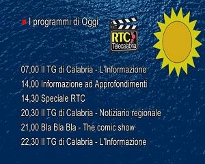 In Radio, TV e Web su RTC – Programmi di Mercoledì 4 Agosto