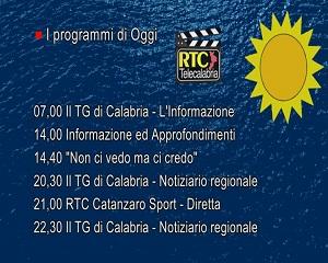 In Radio, TV e Web su RTC – Programmi di Giovedì 16 Settembre
