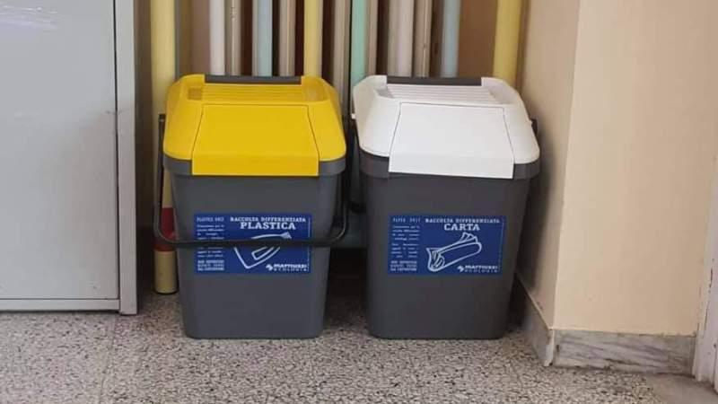 Colonna, arrivano a scuola i contenitori per la raccolta differenziata