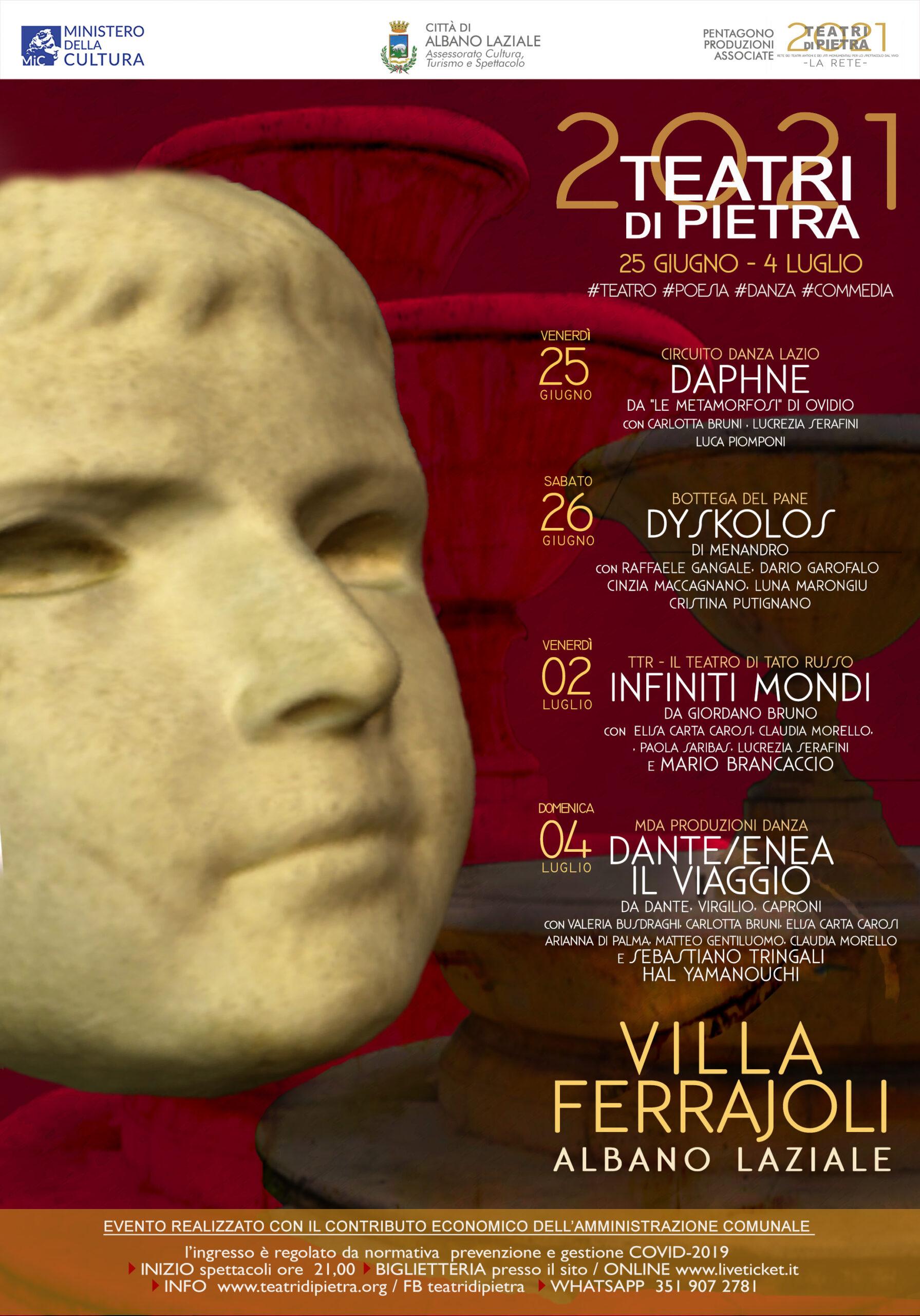 Albano, si inaugura il 25 Giugno la nuova stagione teatrale 2021
