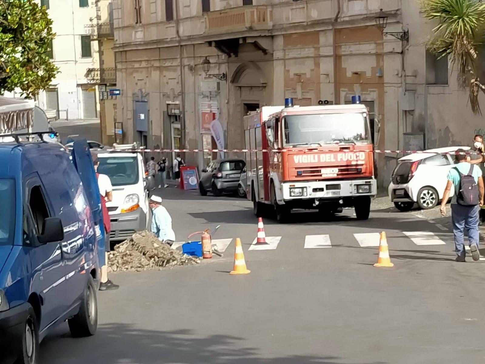 Velletri, perdita di gas in via Pia