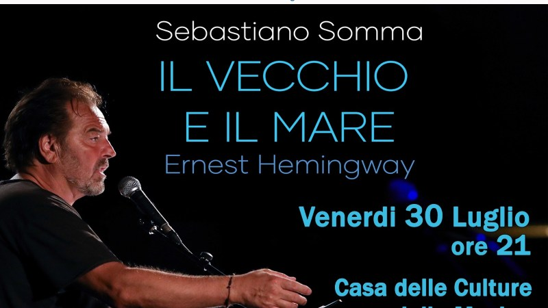 """Velletri, Sebastiano Somma alla Casa delle Culture legge """"Il vecchio e il mare"""""""