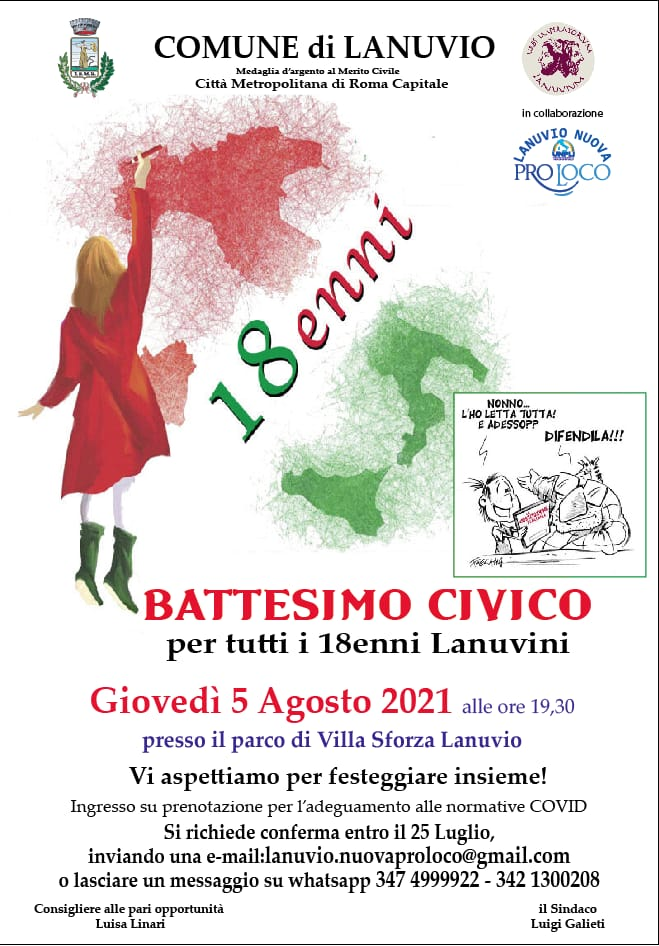 """Lanuvio, la Pro Loco risponde al PD sulle polemiche scatenate dal """"Battesimo Civico"""""""