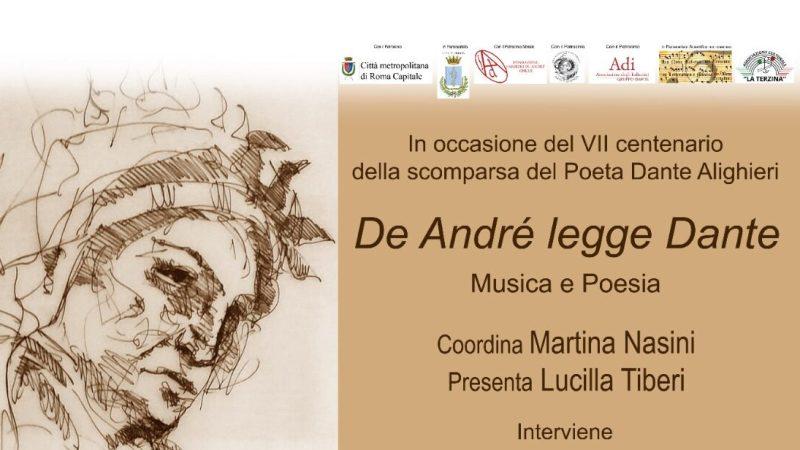 """Ariccia, """"De André legge Dante. Musica e poesia"""" nell'estate ariccina a Palazzo Chigi"""