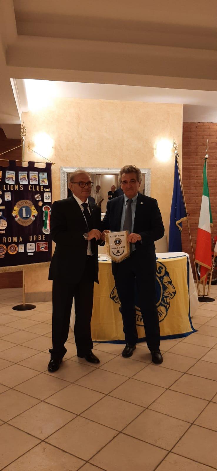 Frascati,  Felice Gasperini del consorzio vini, eletto presidente  Lions Club Roma Urbe